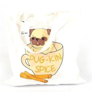 Adorable Pumpkin Spice Latte Pug bag